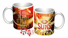 Gold Coast Suns AFL Musical Coffee Cup Mug - Yes it Plays the song!