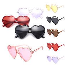 Vintage Sunglasses Womens Men Eyewear Heart Shape Oversized Fashion Mirror Lens