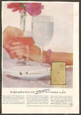 VINTAGE AD - ZIPPO LIGHTERS - SATURDAY EVENING POST NOVEMBER 20, 1954