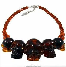 Kreepsville 666 Skull Collection Amber Necklace Punk Goth Halloween Horror