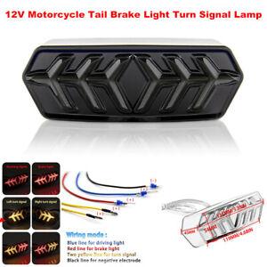 1PCS 12V Motorcycle Bikes Fender LED Stop Rear Tail Brake Light Turn Signal Lamp
