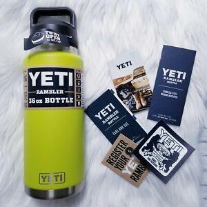 YETI Rambler Bottle 36 oz with Chug Cap Chartreuse