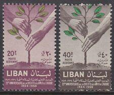 Libanon Lebanon 1960 ** Mi.653/54 Pflanzen Plants Bäume Trees Hände Hands