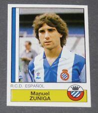 104 MANUEL ZUÑIGA RCD ESPANYOL PANINI LIGA FUTBOL 87 ESPAÑA 1986-1987 FOOTBALL