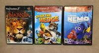 Over the Hedge - Narnia - Finding Nemo (Playstation 2, PS2) Games Lot - Tested!