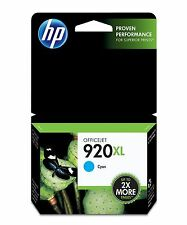 HP 920XL Genuine High Yield Cyan Original Ink Cartridge CD972AA