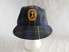 Vintage Hill Country Golf Club Baseball Cap Hat Leather Strapback Tartan Plaid