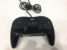 Official Nintendo Wii Classic Pro Black Controller RVL-005 OEM Genuine