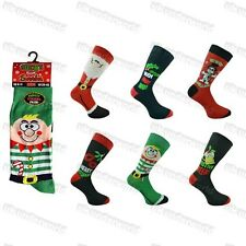 Mens Christmas Novelty Socks 6 Designs Size 6-11 Xmas Gift Present Secret Santa Elf