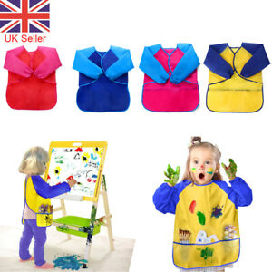 Childrens Kids WIpe Clean Aprons Drawing Painting Chef Apron Waterproof Craft UK