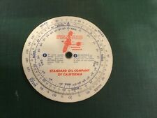 Vintage Aviation 1940 Standard Oil Co. Scale Chart Air Speed Distance Calculator