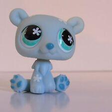 Littlest Pet Shop Blue Polar Bear #648 with Teal Flower Eyes Panda Hasbro LPS