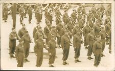 Canadian Army Veterens On Parade Alberta 1942 Real Photo