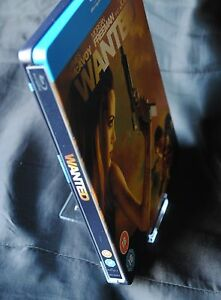 "5 x Blu Ray DVD Steel Book klar Kunststoff Display Ständer Support: 5cm, 2"" NEU"