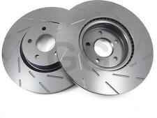 Ford Focus RS mk2 2.5 Front Brake Discs EBC Grooved Ultimax Uprated PAIR USR1700