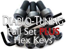 Ibanez Saddle Intonation & Locking Nut Screws SET Black - PLUS Hex / Allen Keys!