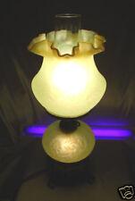 "XLNT~VINTAGE~1960's""FENTON""GLASS""SRC""TOPAZ VASELINE OPALESCENT""DAISY&FERN""LAMP"