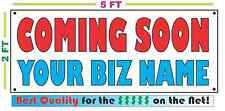 COMING SOON w/ CUSTOM NAME Banner Sign NEW Larger Size