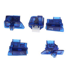 Blue Plastic Motorcycle Hand Controls Switch Housing Buttons Caps for GY6