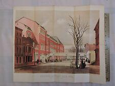 Original 1864 Brooklyn Heights 17x20 Lithograph Civil War Fair Academy of Music
