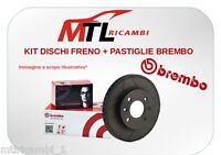 KIT DISCHI FRENO + PASTIGLIE BREMBO ANTERIORI FORD FIESTA VI 1.0 65CV DAL 01/13