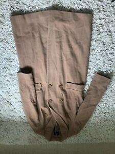 Marks and Spencer calf length camel wool /cashmere blend coat size 12