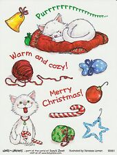 Suzys Zoo Scrapbooking Stickers 25 Sheets Merry Christmas Cat Kitten Warm Cozy