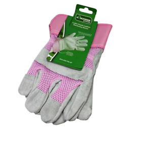 Gardening Gloves Ladies Womens Leather Thorn Proof Heavy Duty Rigger One Size
