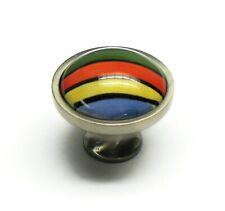Betsy Fields Design PBF132Y-MIX-41743 Ceramic/Nickel Rainbow Drawer Pull Knob
