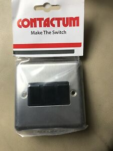 Contactum Brushed Chrome 3 Gang Light Switch Black Inserts New R3732BSB