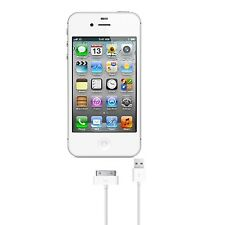 Apple iPhone 4 / 4s Cable 30-Pin to USB Sync Data Cable Charging 3FT White Cord