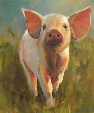 NATIONAL PIG DAY POSTER - GIFT IDEA - ART PRINT SIZE 10x12 INCHES