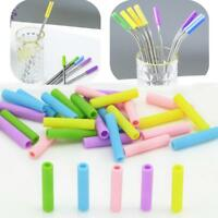10pcs/set Silicone Tips Cover Food Grade Cover for 6mm Stainless Steel Straws