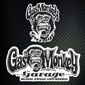 lot 2 stickers autocollant Gas Monkey Garage decal Gaz Monkey