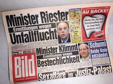 Bildzeitung vom 02.10.1999 Geschenk 18. 19. 20. Geburtstag * Riester