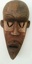West African in legno etnico/Tribale Maschera cerimoniale DALLA SIERRA LEONE