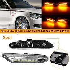 Paire LED Ambre Clignotant Feux Repetiteur D'aile pour BMW E46 E60 E82 E90 E92