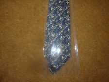 Tintin Tie - Snowy and the Crocodile from Tintin in the Congo - Blue - New