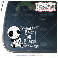 """Baby Jack """"BABY ON BOARD"""" Sign Vinyl Decal Sticker"""