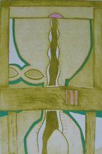 British JOHN BRUNSDON Mid-Century Modern MCM Abstract Expressionism Etching #1