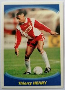 """ULTRA RARE !! ROOKIE Sticker THIERRY HENRY """"SUPER FOOT 97/98"""" PANINI"""
