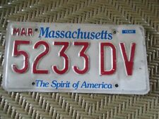 "Vintage  ""Massachusetts / Spirit Of America License Plate / Disabled Veteran"