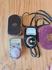 Vintage pair  Weston Masters II & V Light Meters