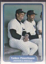 1982 FLEER BASEBALL REGGIE JACKSON DAVE WINFIELD #646 YANKEES NMMT/MINT *58085