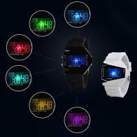 ASAMO Herren Digital Armbanduhr Silikon Armband Sport Flieger LED Damen AMA073