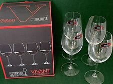 "RIEDEL VIVANT Large 19-3/8 Ounce Red Wine Glasses 8 7/8"" Tall - Set of 4 NIB"