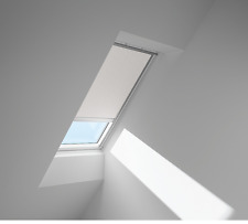 VELUX Verd.-Rollo solar DSL SK06 4558S Dekor Weiß/Beige PG: Premium