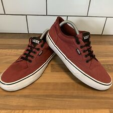 Vans *OFF THE WALL* Men's Trainers Old Skool Maroon Red & White Size UK 7.5 EU41