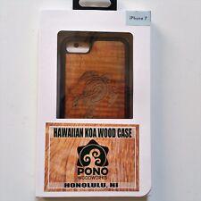 Sonix Pono Woodworks Hawaiian Koa Wood Pono Turtle Apple iPhone7 Case NEW!