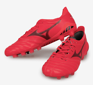 Mizuno Men Morelia Neo 3 Elite MD Cleats Red Football Boot Spike P1GA208160